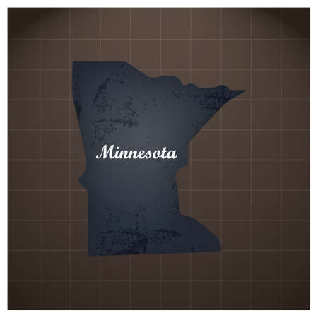 minnesota state map 向量圖像
