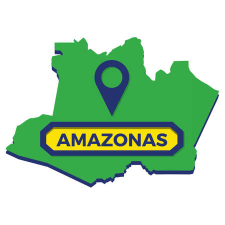 amazonas map with map pin