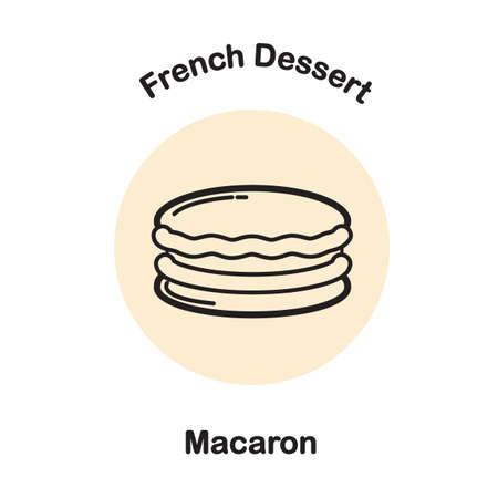 macaron Illusztráció