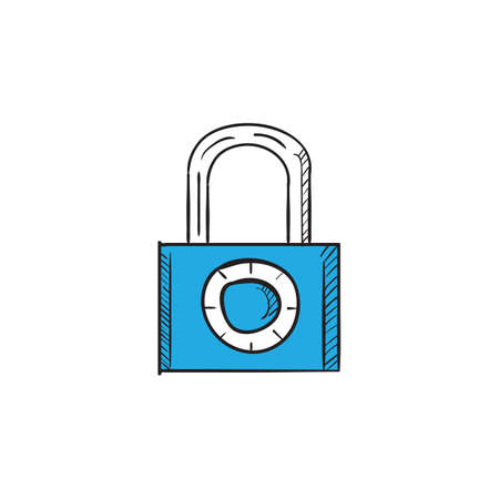 lock icon Archivio Fotografico - 106668232