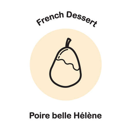 Poire ベル エレーヌ  イラスト・ベクター素材