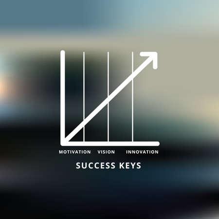 成功の鍵  イラスト・ベクター素材