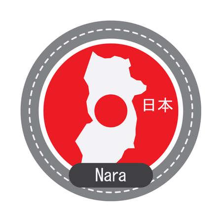 奈良地図  イラスト・ベクター素材