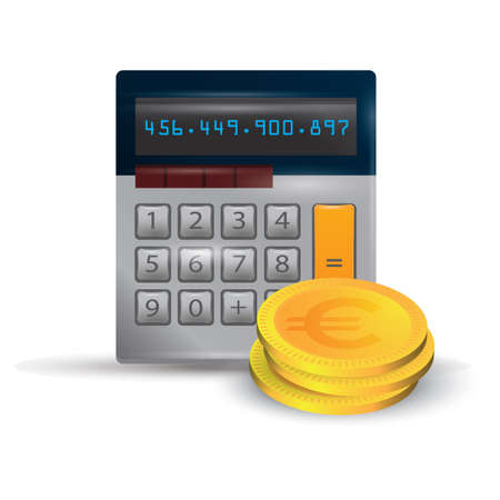 유로 동전 계산기 일러스트