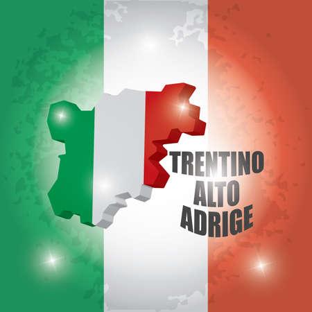 Trentino-alto adrige map Illustration