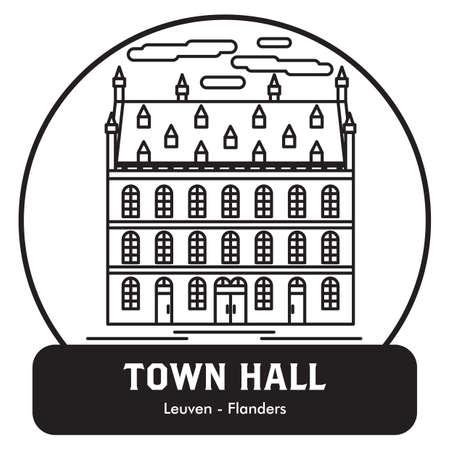 Stadhuis Vector Illustratie