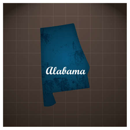 alabama state map Illustration