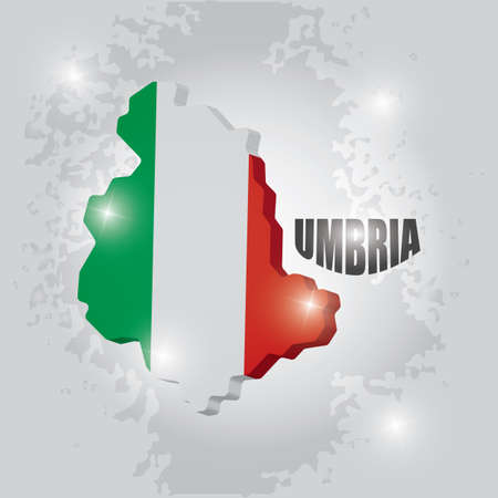 Umbria map Illustration