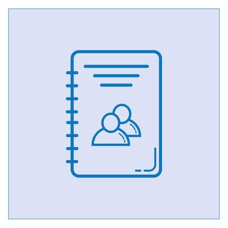 contact book icon  イラスト・ベクター素材