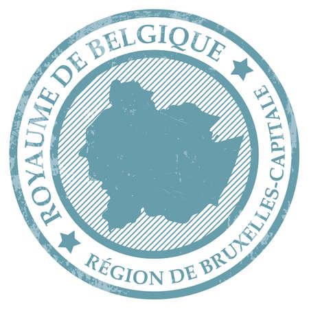 Carte de région de bruxelles capitale Banque d'images - 81589748