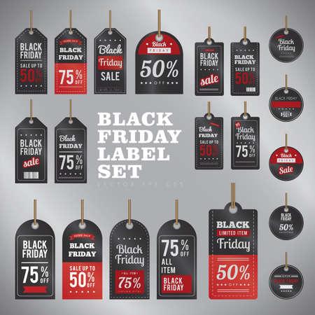 black friday labels sets Çizim