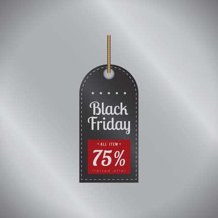 black friday sale tag Иллюстрация