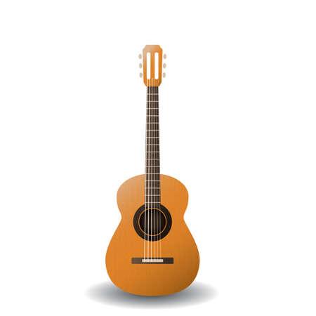 guitarra acustica Ilustración de vector
