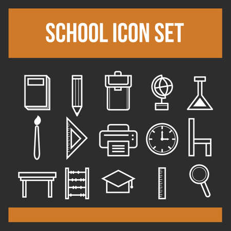 school icon set Stock Vector - 106668265