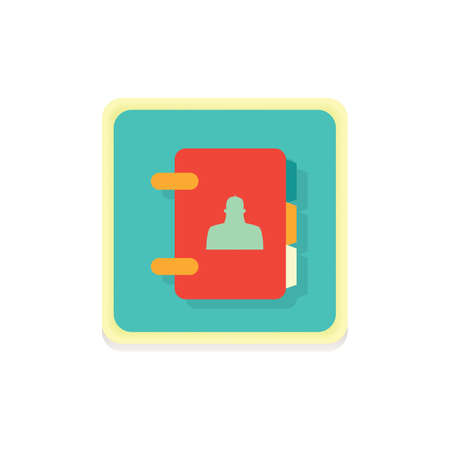 contact book icon Illusztráció