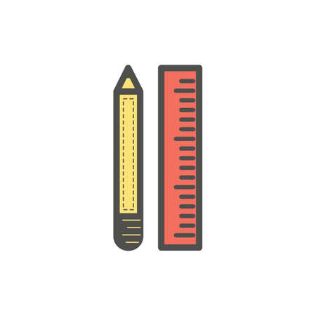 pencil and ruler Illustration