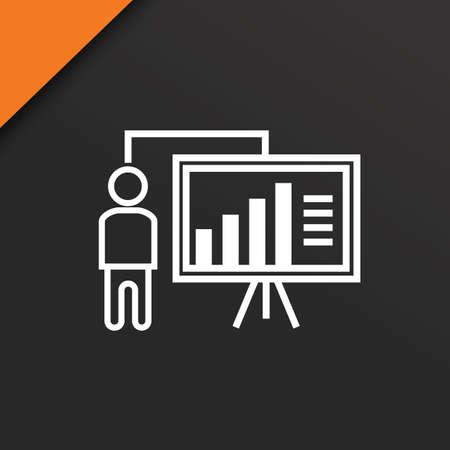 CRan d'homme d'affaires et projecteur Banque d'images - 81535272