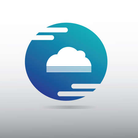cloud storage icon Illustration