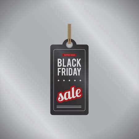 black friday sale tag Illustration