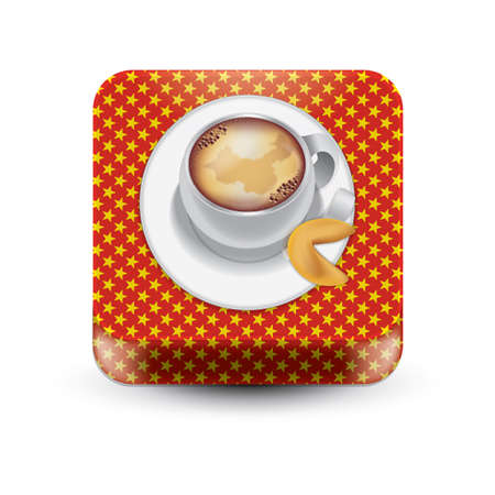 Koffie met fortuinskoekje
