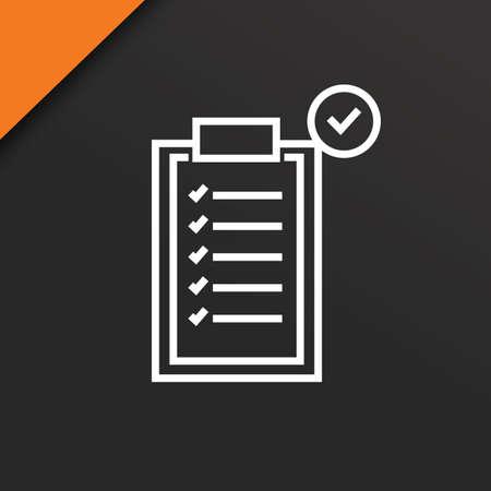 checklist met vinkje Stock Illustratie