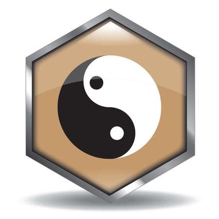 yin yang Illusztráció