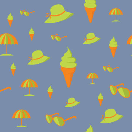 seamless beach pattern background
