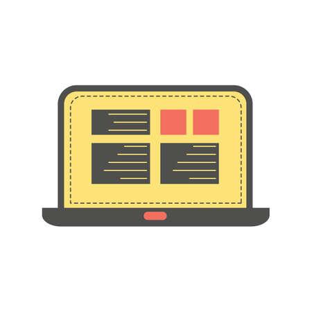 ordenador portátil Ilustración de vector