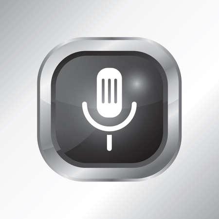 voice recorder icon 向量圖像