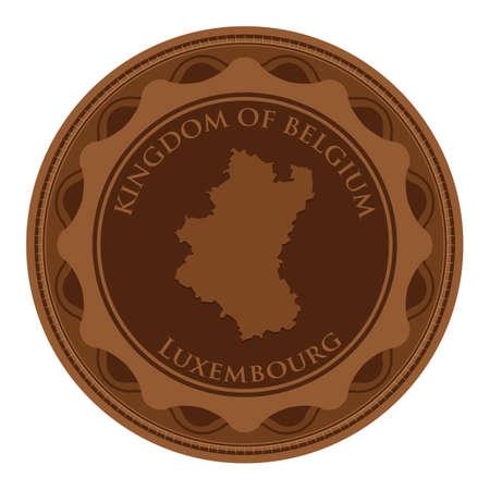 Mappa di Lussemburgo Archivio Fotografico - 81589754