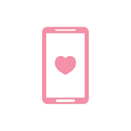 mobile phone with heart symbol