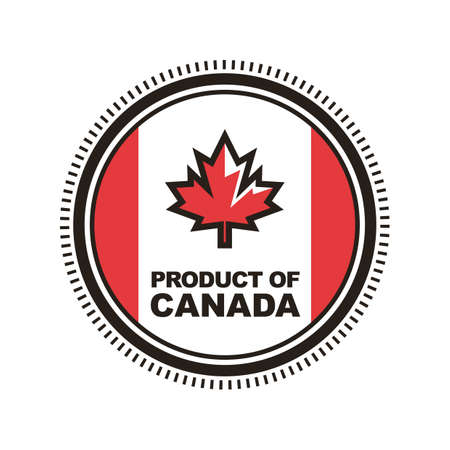 product of canada label Stok Fotoğraf - 106668380
