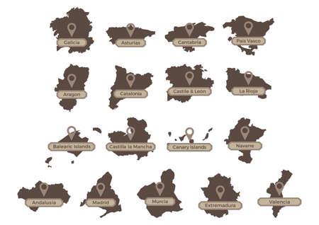 verzameling van spaanse gemeenschappen en steden