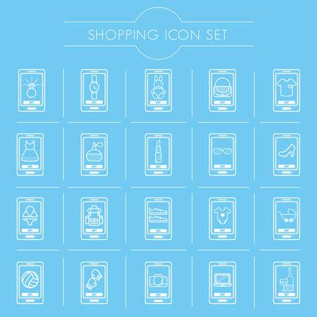 모바일 쇼핑 아이콘 세트