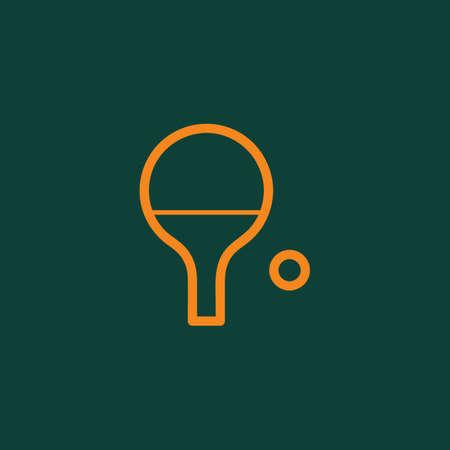 Raquette de tennis de table et balle Banque d'images - 81484299
