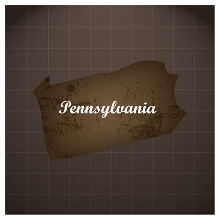 Pennsylvania staat kaart
