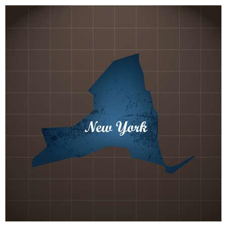 ニューヨーク州地図  イラスト・ベクター素材