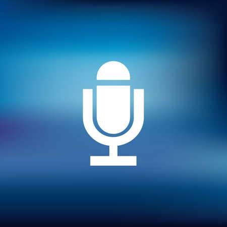 voice recorder icon Illusztráció