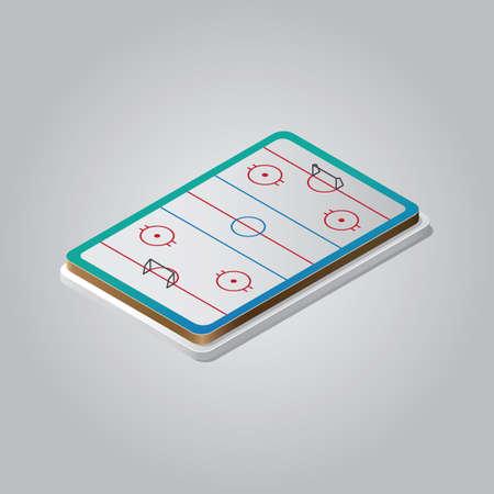 Terrain de hockey sur glace Banque d'images - 81484319