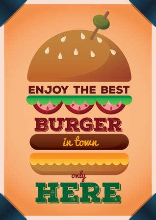 burger poster 向量圖像