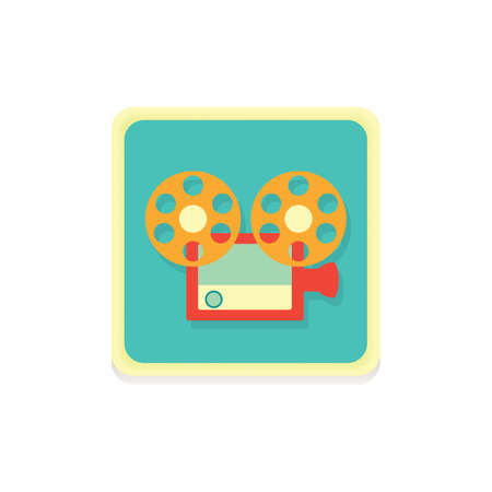 video camera icon Illustration