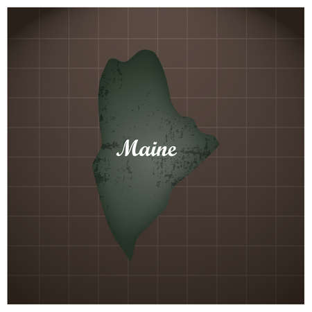 maine state map Stock Vector - 81484327