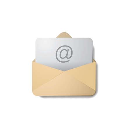 e-mailpictogram Stock Illustratie