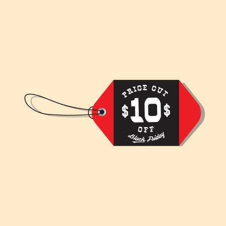 black friday sale tag Illustration
