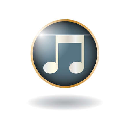 music player icon Illustration
