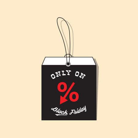 black friday sale tag Ilustrace