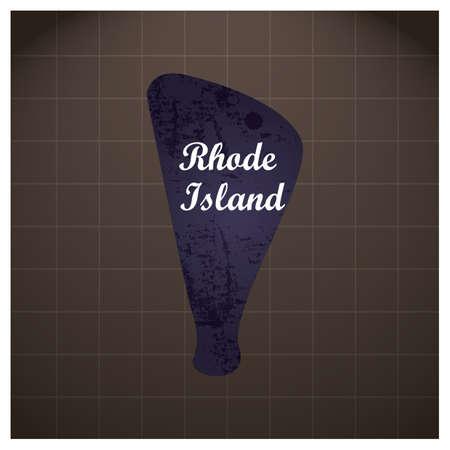 Rhode Island staat kaart Stock Illustratie