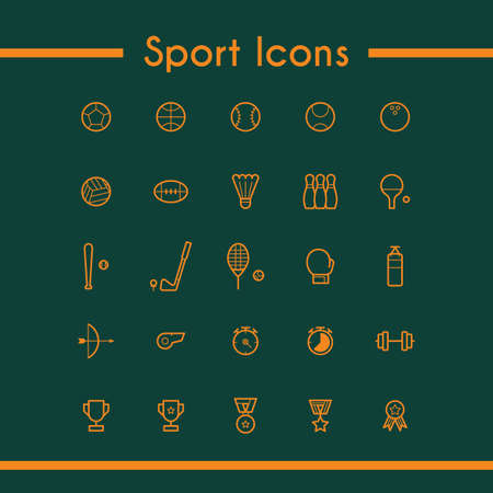 collection of sport icons
