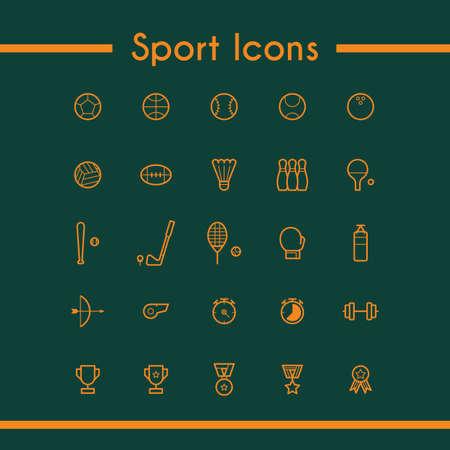 verzameling van sport iconen Stock Illustratie