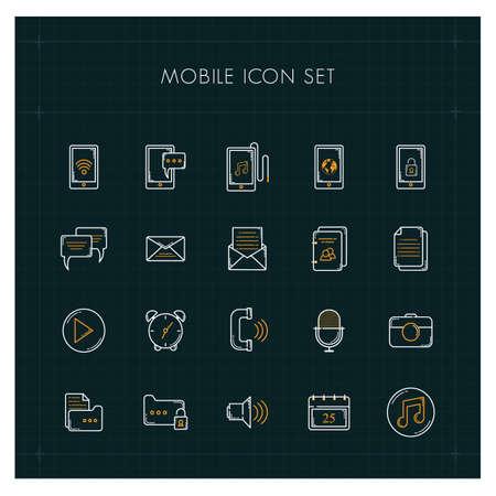 mobiles Icon-Set